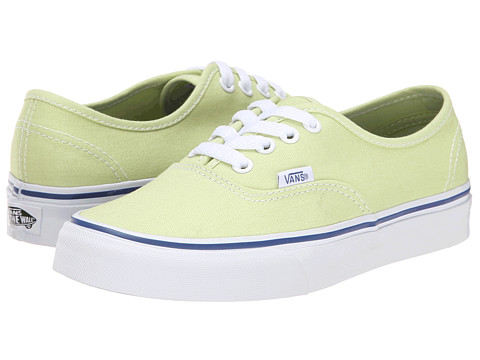 Vans - Authentic (Shadow Lime/True White) Skate Shoes
