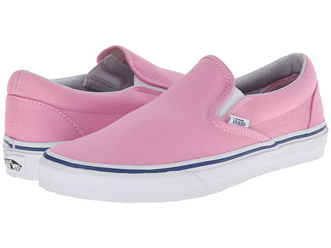 Vans - Classic Slip-On (Prism Pink/True White) Skate Shoes