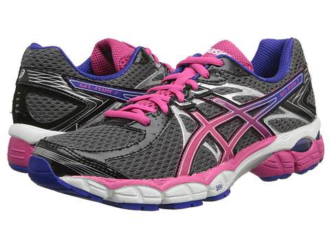ASICS - GEL-Flux 2 (Onyx/Hot Pink/Blue) Women's Running Shoes