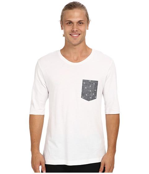 Alternative - 3/4 Sleeve Basic Crew (White) Men