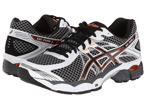 ASICS - GEL-Flux 2 (Onyx/Black/Flash Orange) Men's Running Shoes