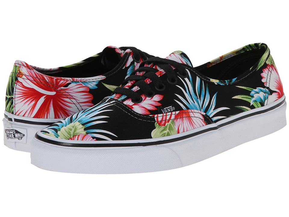 Vans - Authentic ((Hawaiian Floral) Black) Skate Shoes