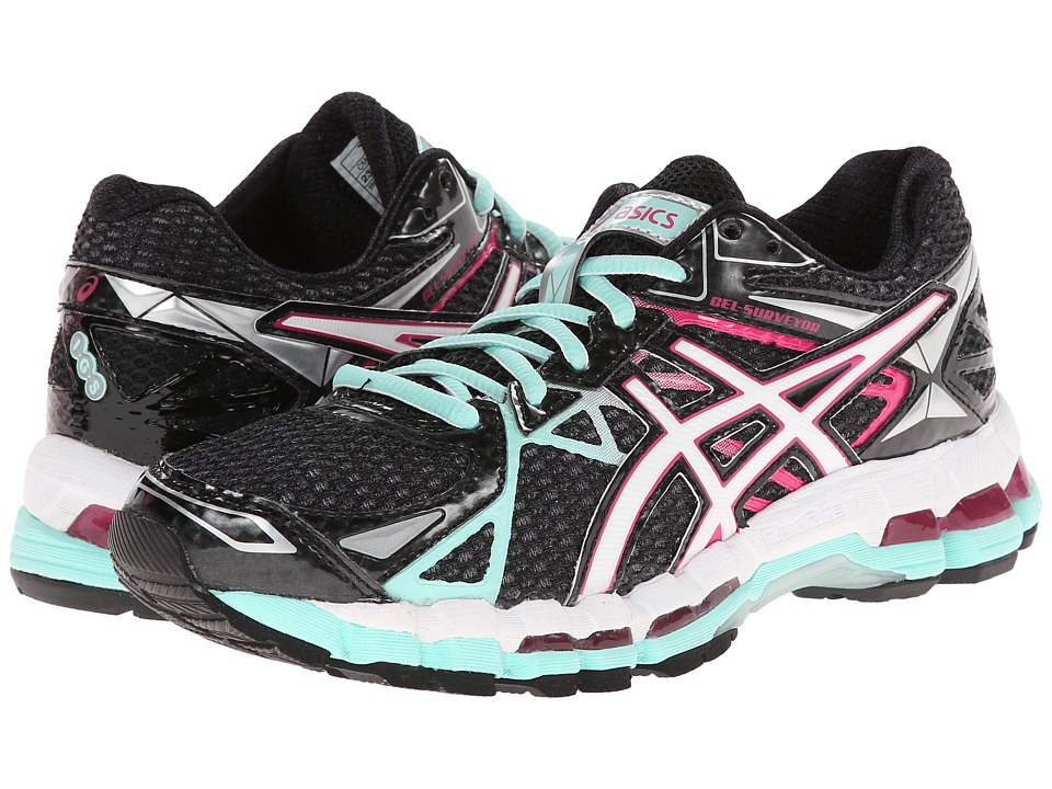 ASICS - Gel-Surveyor 3 (Onyx/White/Hot Pink) Women's Running Shoes