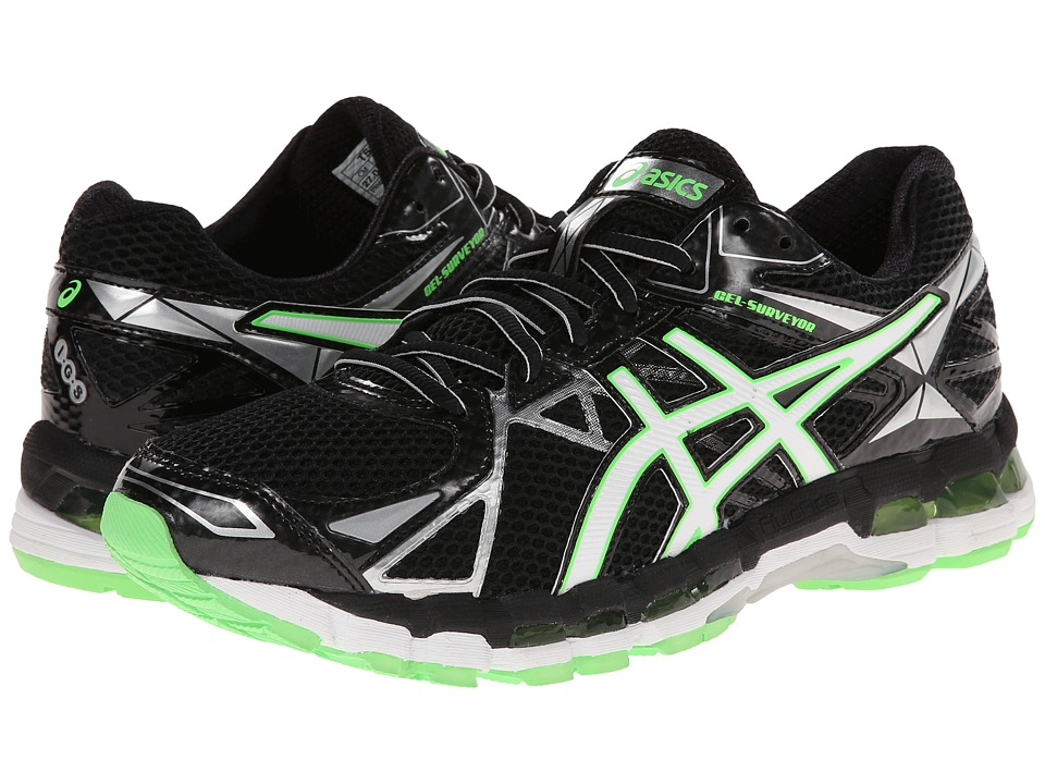 ASICS - Gel-Surveyor 3 (Black/Lightning/Green) Men's Running Shoes