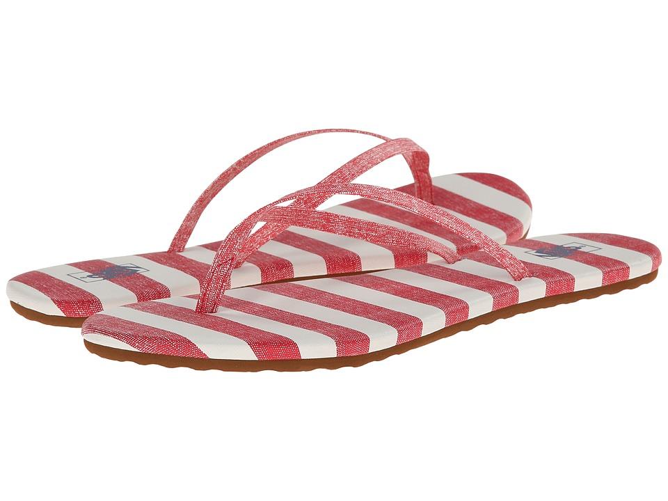 Vans - Carmelle Print ((Stripes) Red/Marshmallow) Women