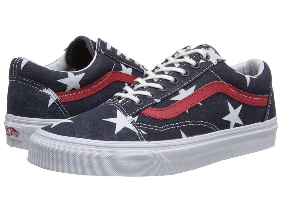 Vans - Old Skool ((Stars & Stripes) True White) Skate Shoes