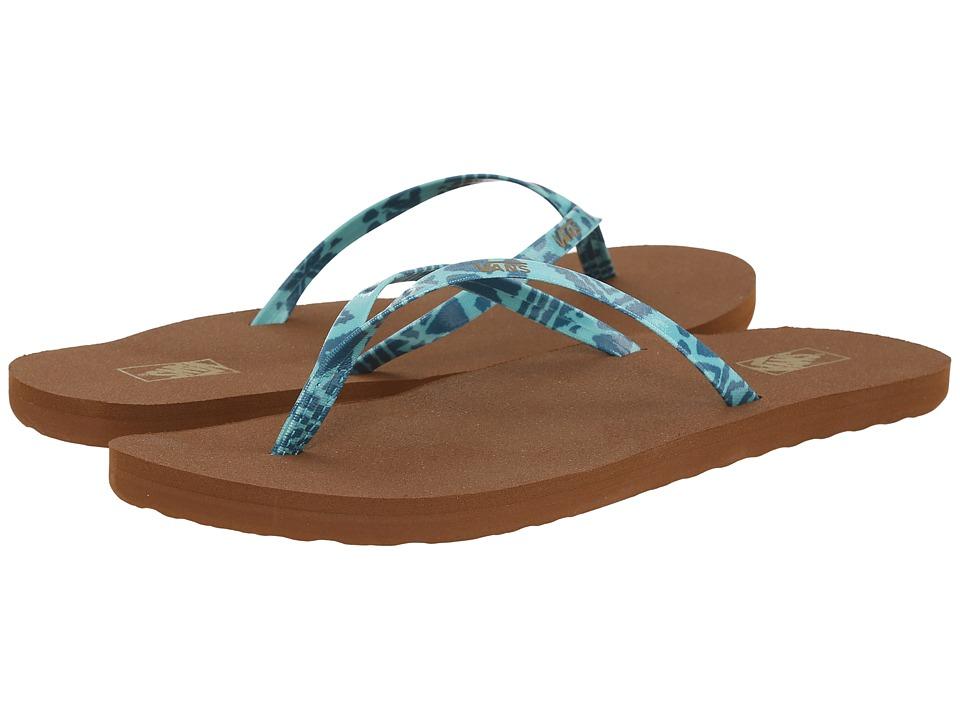 Vans - Malta Print ((Summer Tribal) Ocean Depths/Capri) Women's Sandals