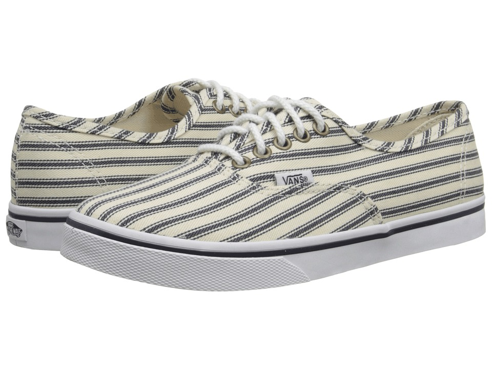 Vans - Authentic Lo Pro ((Engineered Stripes) White/Navy) Skate Shoes