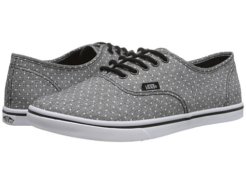 Vans - Authentic Lo Pro ((Chambray Dots) Black) Skate Shoes