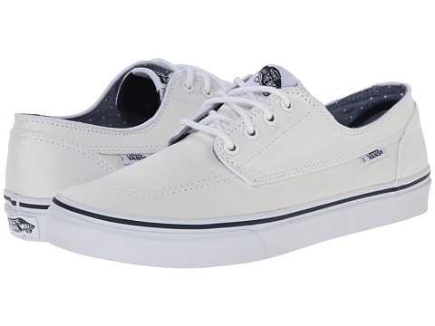 Vans - Brigata Slim ((Chambray Dots) White/Twill) Skate Shoes