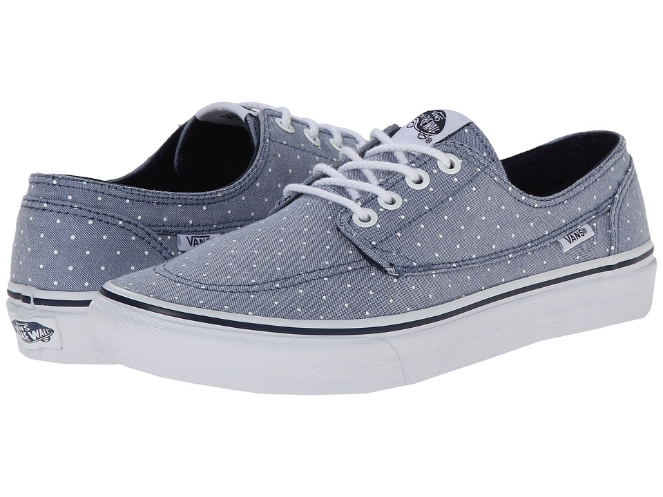 Vans - Brigata Slim ((Chambray Dots) Blue) Skate Shoes