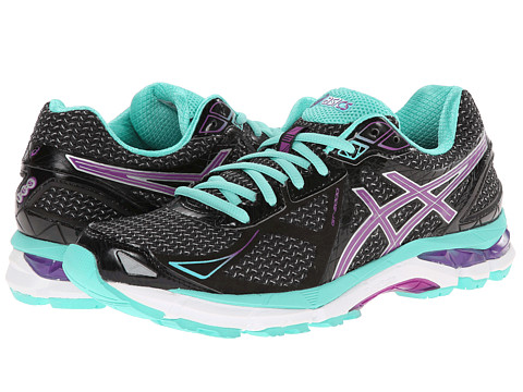 ASICS - GT-2000 3 (Black/Purple/Emerald) Women's Running Shoes