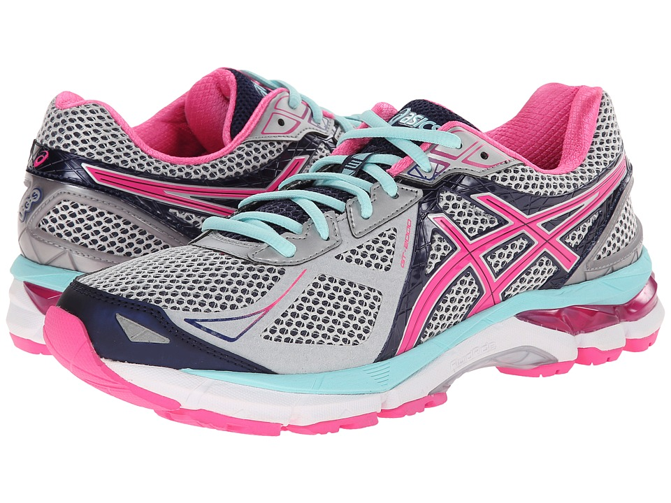 ASICS - GT-2000 3 (Lightning/Hot Pink/Navy) Women's Running Shoes