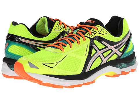 ASICS - GT-2000 3 (Flash Yellow/Silver/Emerald Green) Men