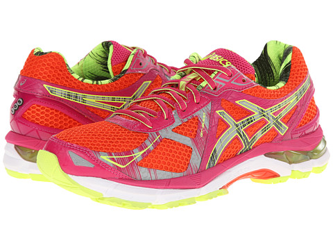 ASICS - GT-2000 3 Lite-Show (Cherry/Tomato/Lite Safety Yellow) Women's Running Shoes