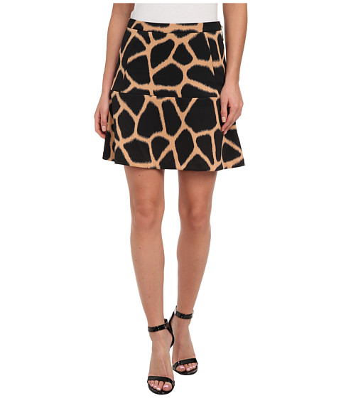 MICHAEL Michael Kors - Antalia Giraffe Mini Skirt (Sun Tan) Women