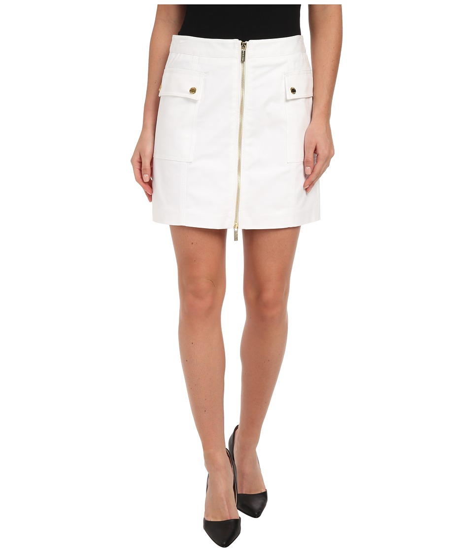 MICHAEL Michael Kors - Cargo Zip Mini Skirt (White) Women's Skirt