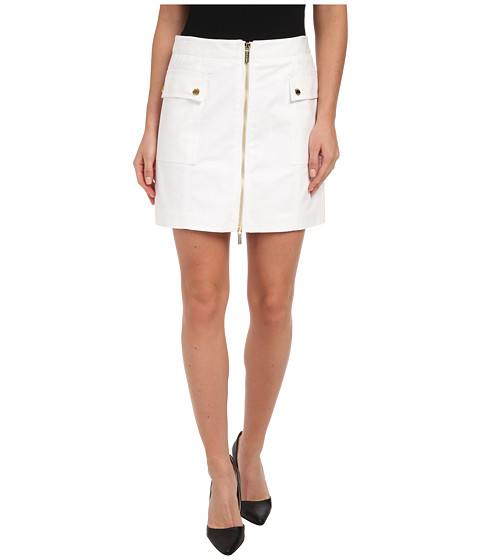 MICHAEL Michael Kors - Cargo Zip Mini Skirt (White) Women