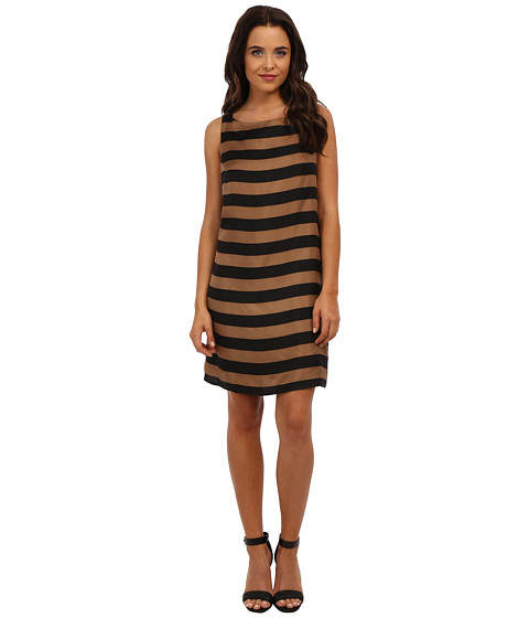 Amanda Uprichard - Brighton Shift (Chestnut Stripe) Women's Dress