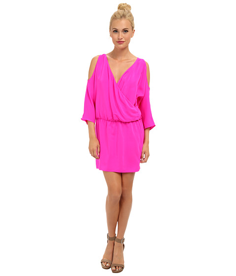 Amanda Uprichard - Cold Shoulder Dress (Hot Pink) Women