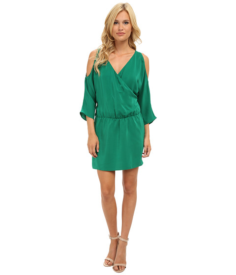 Amanda Uprichard - Cold Shoulder Dress (Green) Women's Dress
