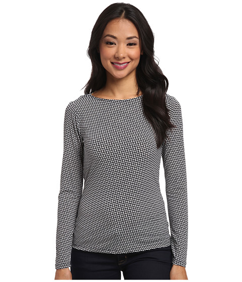MICHAEL Michael Kors - Long Sleeve Cowl Back Top (New Navy) Women's Long Sleeve Pullover