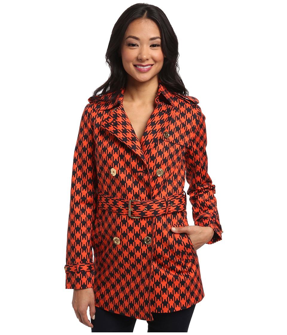 MICHAEL Michael Kors - Short Trench Coat (Mandarin) Women's Coat plus size,  plus size fashion plus size appare