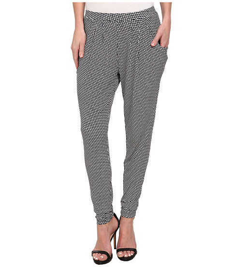 MICHAEL Michael Kors - Aqua Herringbone Pleat Front Pant (New Navy) Women's Casual Pants