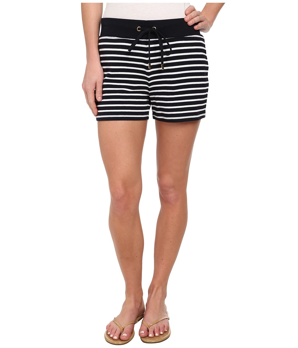 MICHAEL Michael Kors - Stripe Boxer Short (New Navy/White) Women's Shorts