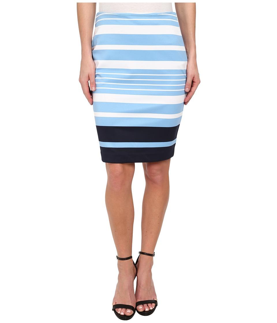 MICHAEL Michael Kors - Helsinki Stripe Ponte Skirt (Heritage Blue) Women's Skirt