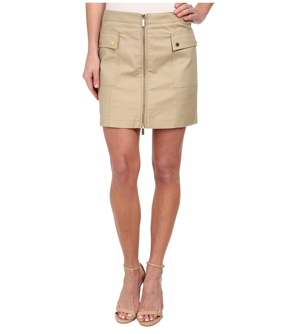 MICHAEL Michael Kors - Cargo Zip Mini Skirt (Khaki) Women's Skirt