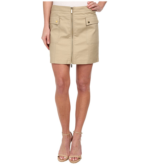 MICHAEL Michael Kors - Cargo Zip Mini Skirt (Khaki) Women's Skirt