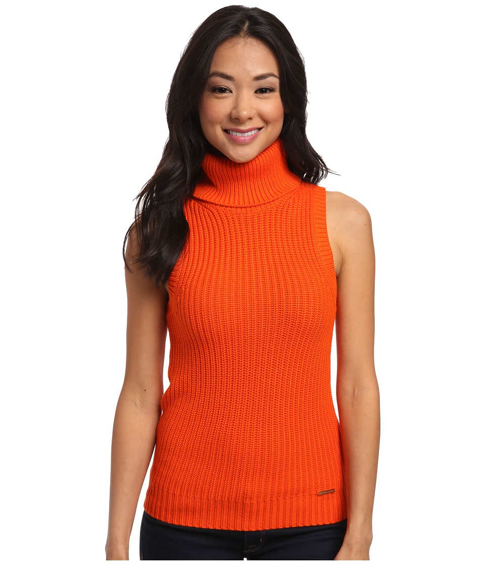 MICHAEL Michael Kors - Shaker Sleeveless Turtleneck (Mandarin) Women's Sweater
