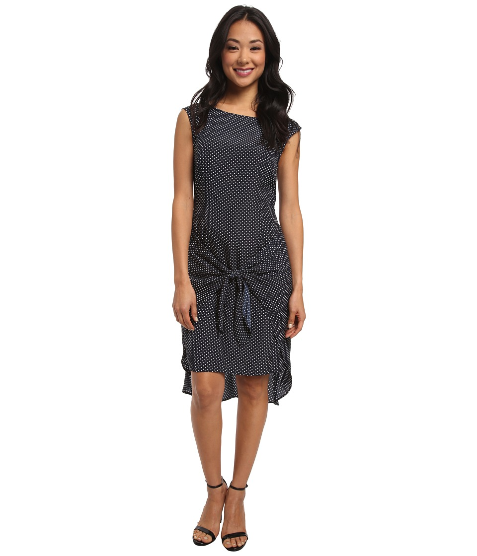 MICHAEL Michael Kors - Adriatic Dot Tie Dress (New Navy) Women's Dress