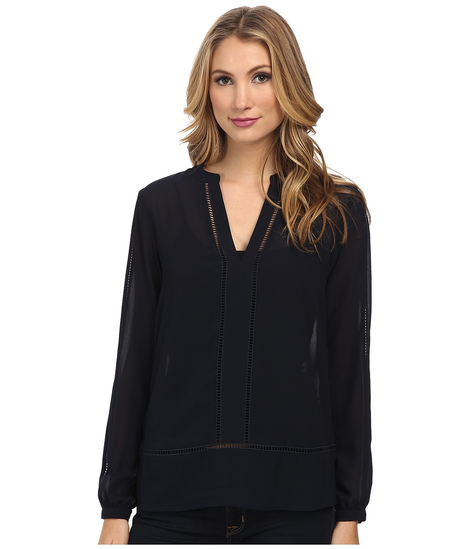 MICHAEL Michael Kors - Long Sleeve Tunic (New Navy) Women