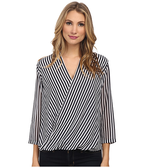 MICHAEL Michael Kors - Boden Stripes Blouse (New Navy) Women's Blouse