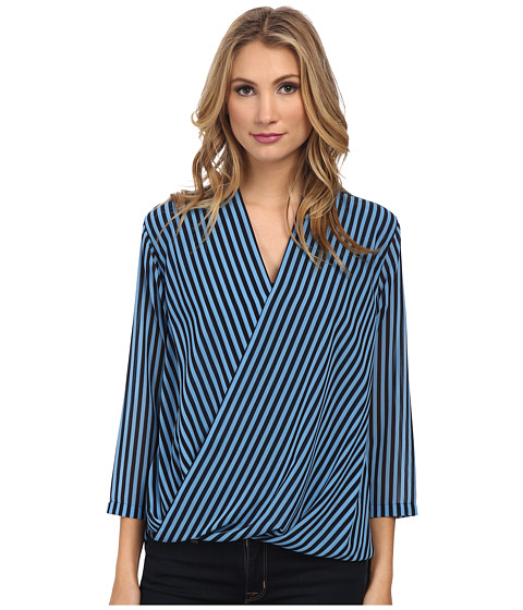 MICHAEL Michael Kors - Boden Stripes Blouse (Heritage Blue) Women's Blouse