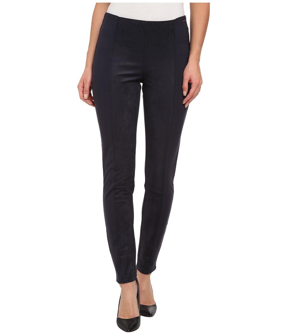 Calvin Klein Jeans - Suede Panelled Legging (Dark Marine) Women's Casual Pants