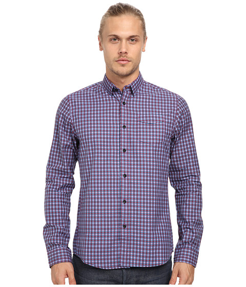 Descendant Of Thieves - Burgundy Pop Shirt (Plaid) Men's Clothing