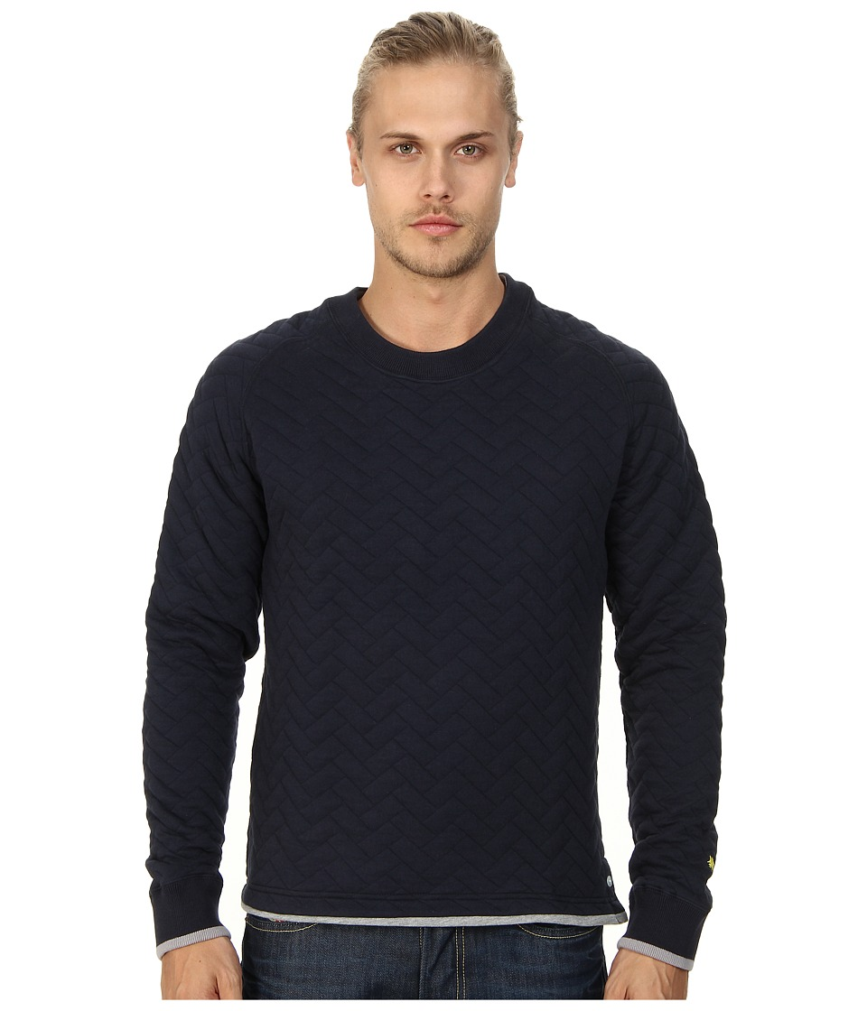 Descendant Of Thieves - Quilted Crew (Navy) Men's Sweatshirt