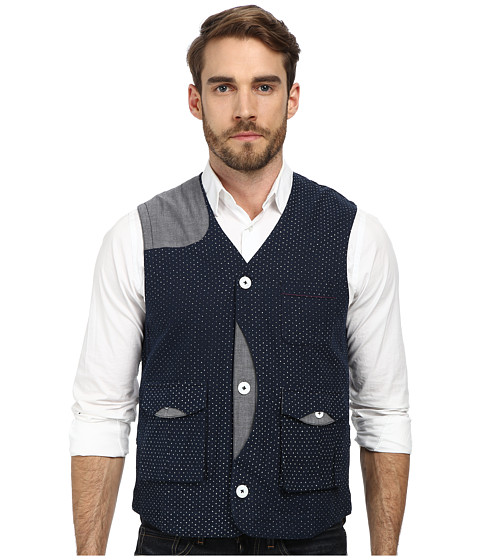 Descendant Of Thieves - Printed Script Utility Vest (Navy) Men's Vest