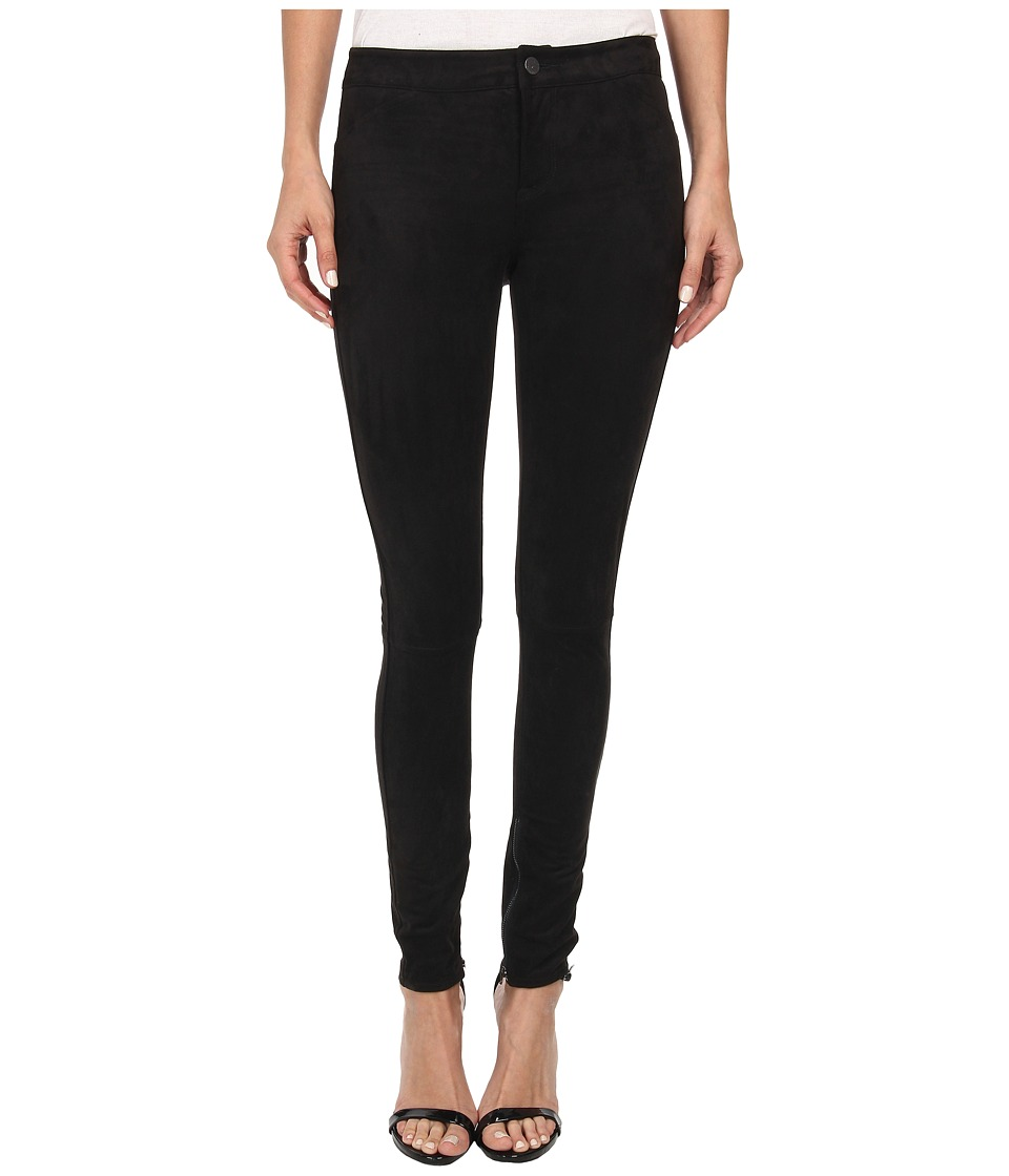 Calvin Klein Jeans - Seamed Suede Legging (Black) Women's Casual Pants