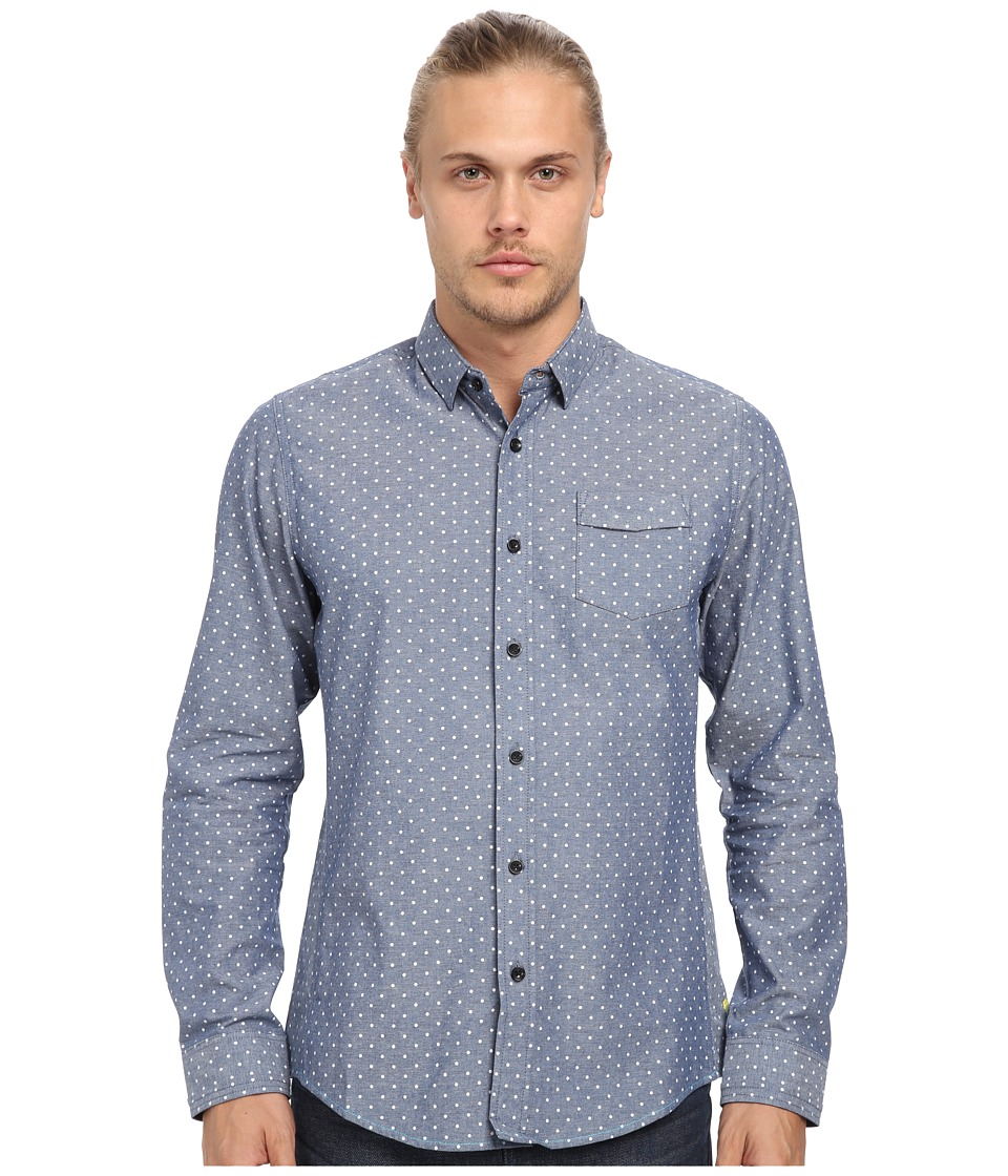 Descendant Of Thieves - Printed Oxford Shirt (Grey Oxford Dot) Men's Clothing