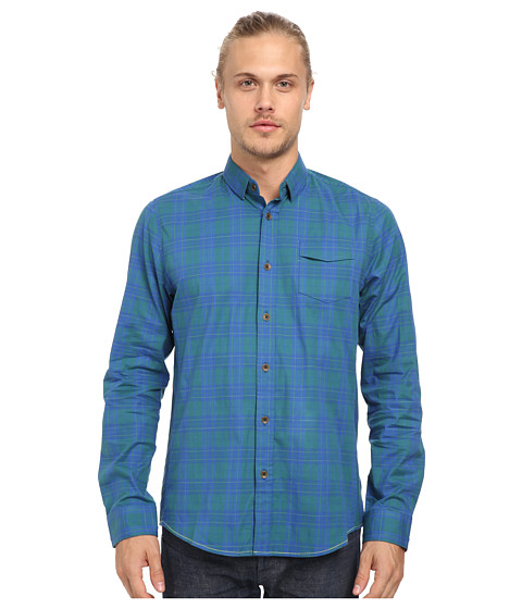 Descendant Of Thieves - Oceans Plaid Shirt (Blue/Green) Men's Long Sleeve Button Up