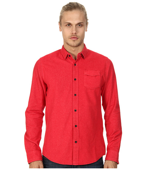 Descendant Of Thieves - Masters Flannel (Ski Patrol Red) Men's Long Sleeve Button Up