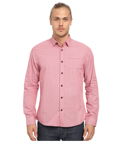 Descendant Of Thieves - Minute Check Shirt (Ski Patrol Red) Men's Clothing