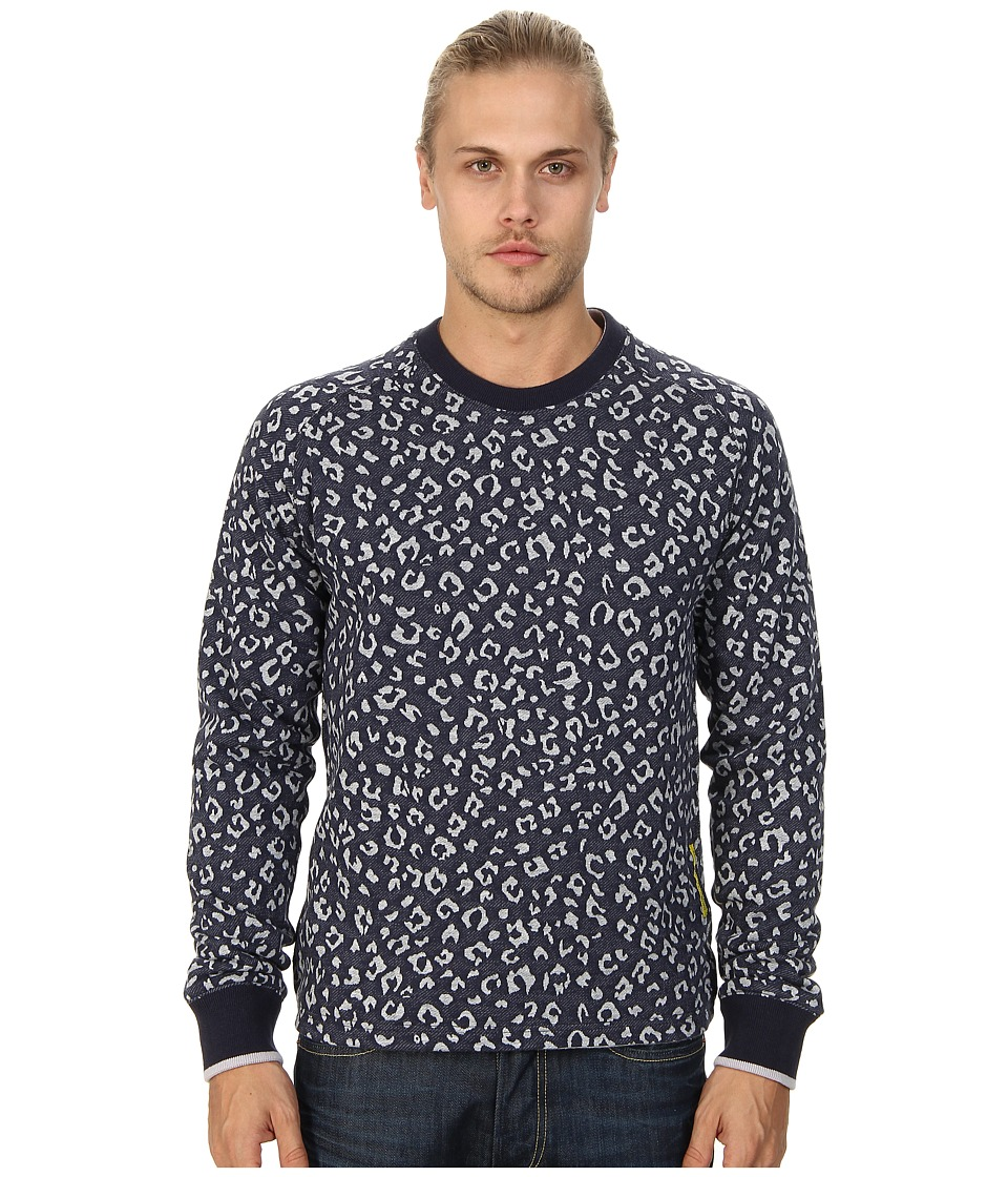 Descendant Of Thieves - Cheetah Print (Blue On Blue) Men's Sweatshirt