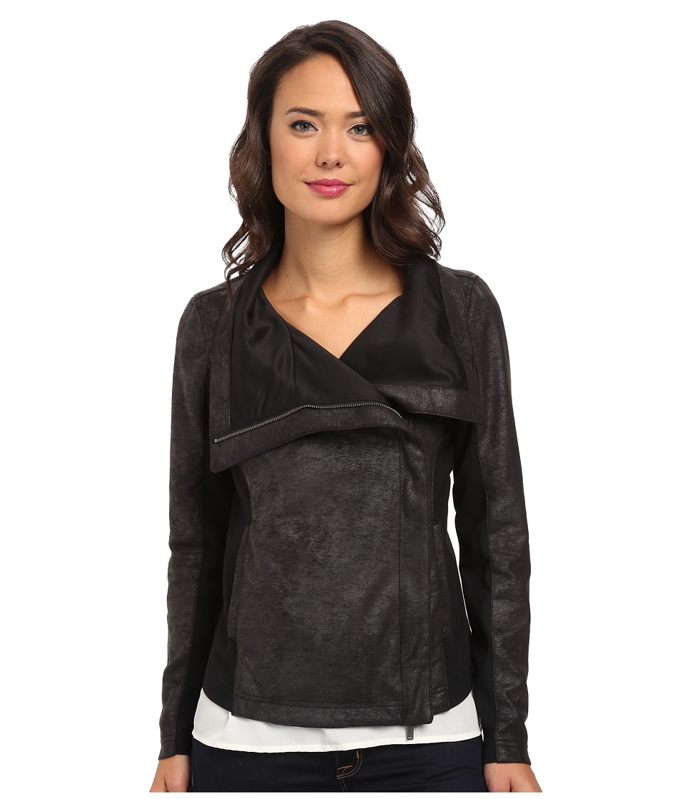 Calvin Klein Jeans - Drape Front Waterfall Jacket (Black) Women