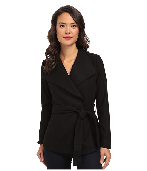 Calvin Klein Jeans - Tie Waist Clean Wool Jacket (Black) Women