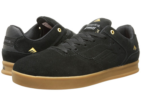 Emerica - The Reynolds Low (Black/Gum) Men's Skate Shoes